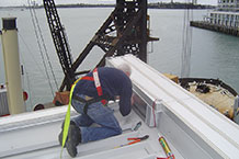 Gull protection on waterfront parapets - making the connections